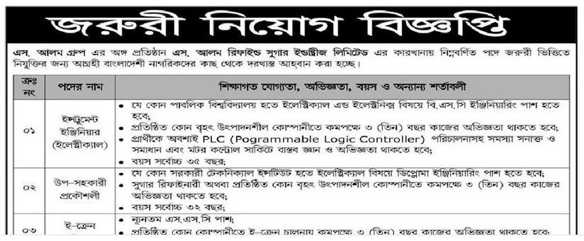 S. Alam group Job Circular 2018