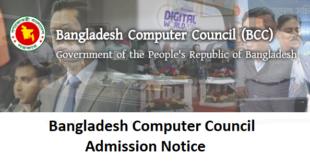 Bangladesh Computer Council Admission Notice
