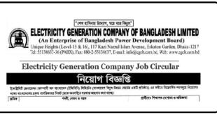 Electricity Generation Company Job Circular